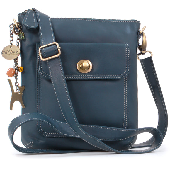 Catwalk Collection Cross-Body Bag - Laura - Blue