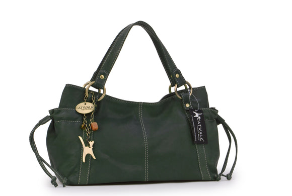 Catwalk Collection Leather Tote Bag - Mia - Green