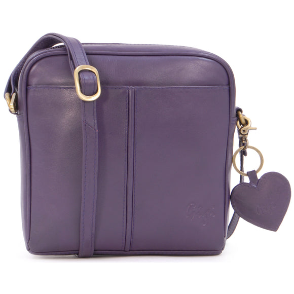 Gigi Small Cross-Body / Shoulder Bag - Leather - OTH22-29 - Purple