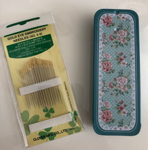 Metal Needle Case with Clover Needles