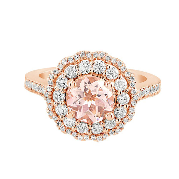 Luxe Morganite Ring Collection