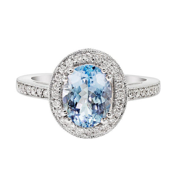 Luxe Aquamarine Ring Collection