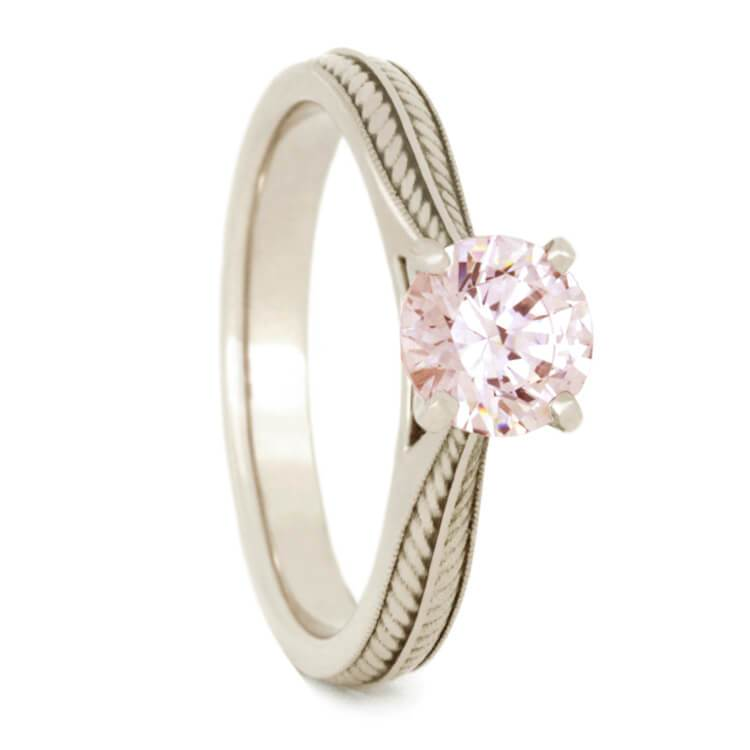 14K White Gold Morganite Engagement Ring