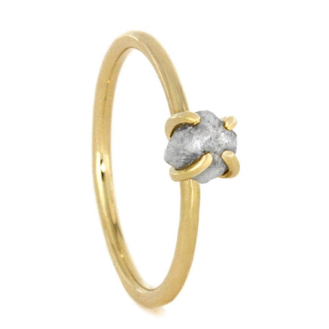 14K Yellow Gold Rough Diamond Engagement Ring