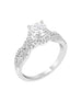 14K White Gold and Halo Diamond Tesori Engagement Ring