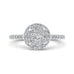 14K White Gold Round Cut Diamond Halo Engagement Ring