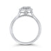 Round Cut Diamond Halo Engagement Ring In 14K White Gold