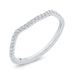 14K White Gold Round Diamond Contour Wedding Band