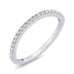 Round Diamond Half-Eternity Contour Wedding Band In 14K White Gold