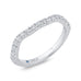 14K White Gold Round Diamond Contour Half-Eternity Wedding Band