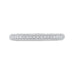 14K White Gold Round Diamond Half-Eternity Wedding Band