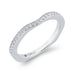 14K White Gold Round Diamond Euro Shank Half-Eternity Wedding Band