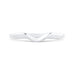 14K White Gold Plain Contour Wedding Band