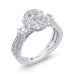 14K White Gold Round & Baguette Diamond Engagement Ring