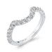 14K White Gold Round Diamond Half-Eternity Contour Wedding Band