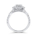 14K White Gold Round Diamond Oval Shape Halo Engagement Ring