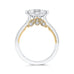Round Diamond Engagement Ring In 14K Two-Tone Gold