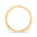 14K Yellow Gold Plain Wedding Band with Euro Shank