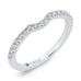 14K White Gold Round Cut Diamond Half-Eternity Contour Wedding Band