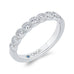 14K White Gold Round Bezel Set Diamond Half-Eternity Wedding Band