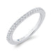 Round Diamond Half-Eternity Wedding Band