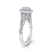 14K White Gold Round Diamond Vintage Halo Vintage Engagement Ring