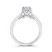 Round Cut Solitaire Diamond Cathedral Style Solitaire Engagement In 14K White Gold