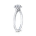 14K White Gold Round Diamond Hexagon Shape Halo Engagement Ring