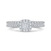 14K White Gold Princess Diamond Halo Engagement Ring