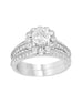 Vintage 14K White Gold and Round Halo Diamond Engagement Ring