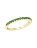 Stackable 14K White Gold and Tsavorite Garnet 4-Prong Wedding Band