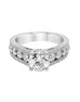 14K White Gold and Diamond Engagement Ring