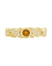 Stackable 14K White Gold and Diamond with Citrine Wedding Band