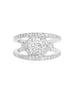14K White Gold and Diamond Split Shank Engagement Ring