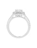 14K White with Rose Gold and Cushion Halo Diamond Engagement Ring