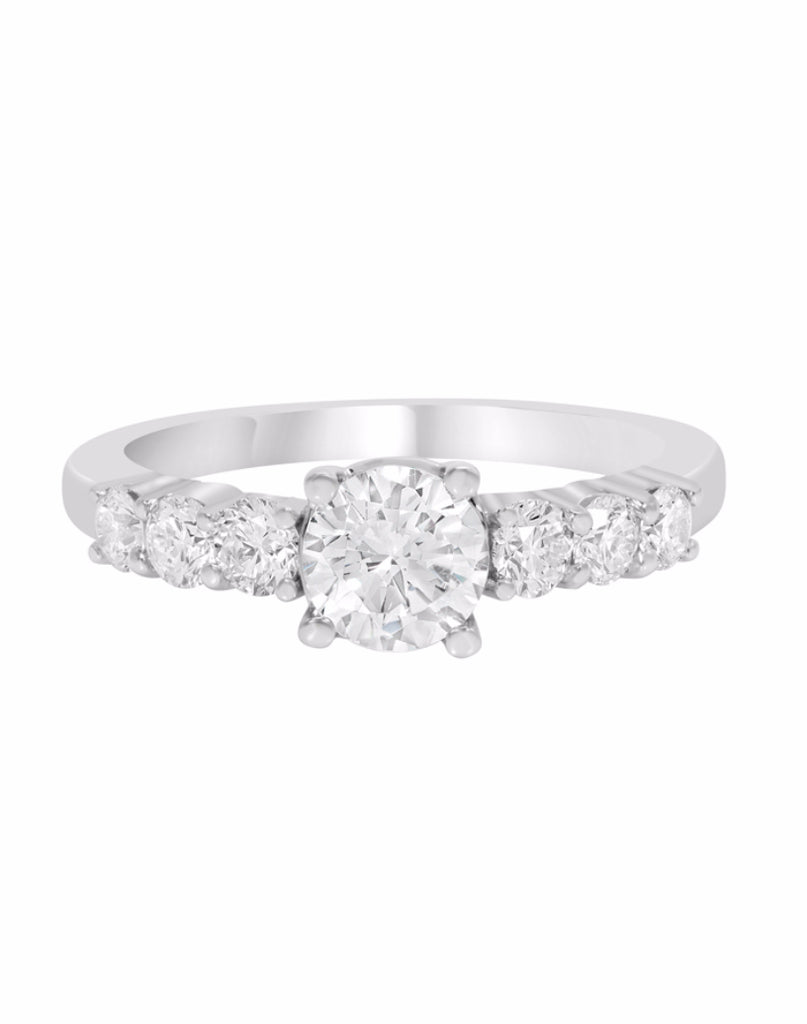 14K White Gold and Diamond Tesori Engagement Ring