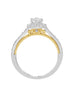 Vintage 14K White with Rose Gold and Halo Diamond Tesori Engagement Ring
