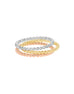 Stackable 14K White Gold Wedding Band