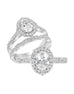 Vintage 14K White Gold and Halo Diamond Engagement Ring