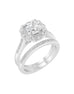 14K White Gold and Cushion Halo Diamond Engagement Ring