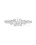 3 Stone 14K White Gold and Diamond Tesori Engagement Ring