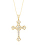 14K White Gold and Diamond Cross Pendant
