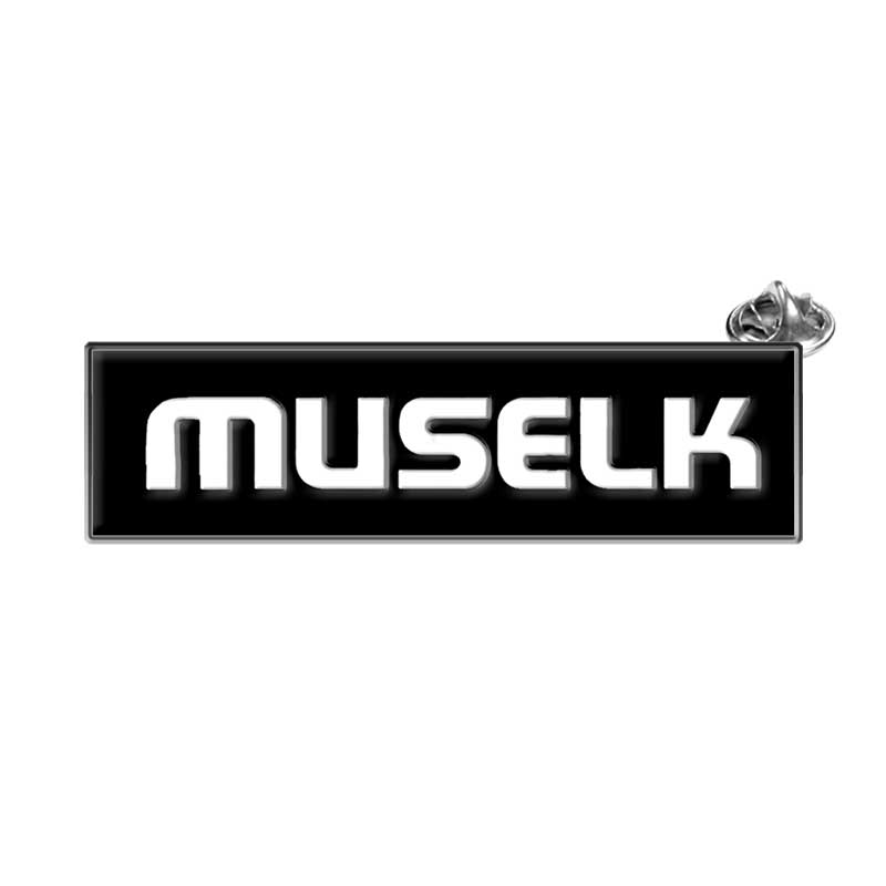 MUSELK RECTANGULAR ENAMEL PIN