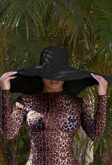 Maldives - Oversized Beach Hat - Black