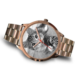 Persionalized Cat Photo Rose Gold Watch