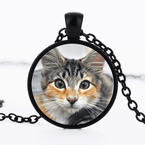 PERSONALIZED PHOTO CAT LOVER PENDANT FOR KEYCHAIN WINNER