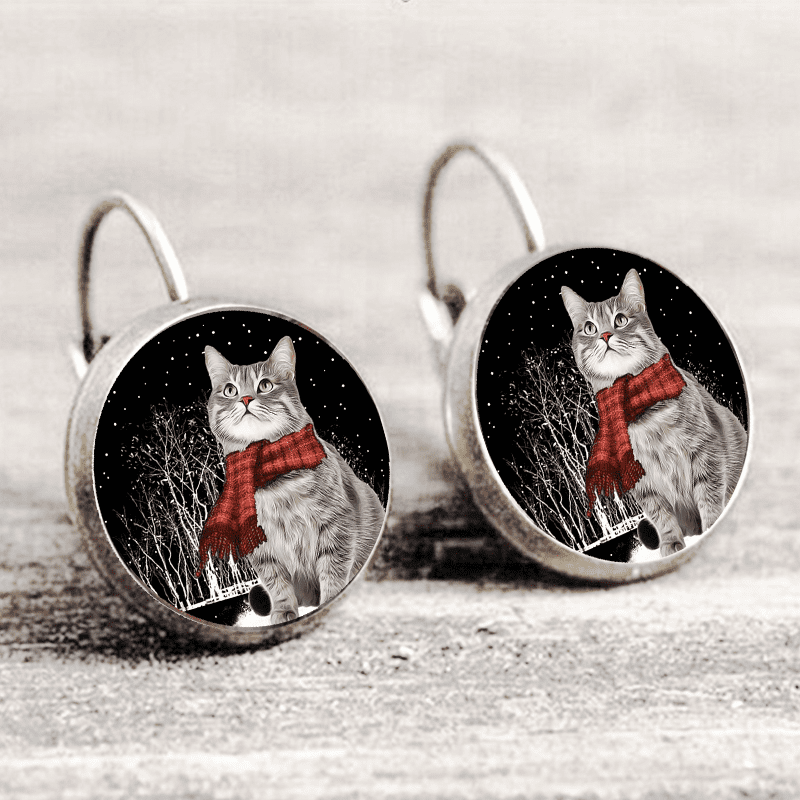 Cat In Snow Earring™ Silver Only For Winners