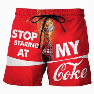 Stop Staring At My Coke - Custom Swim Trunks