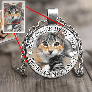 PERSONALIZED PHOTO CAT PENDANT - FOREVER IN MY HEART
