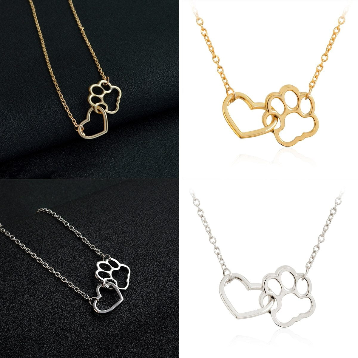 Cat Love Heart Pendant Necklace - 75% OFF